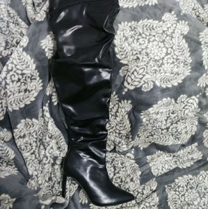 Shoes - Black thigh high/high heeled boots